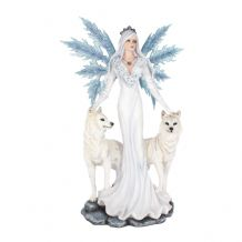 AURA FAIRY AND WOLF FIGURINE